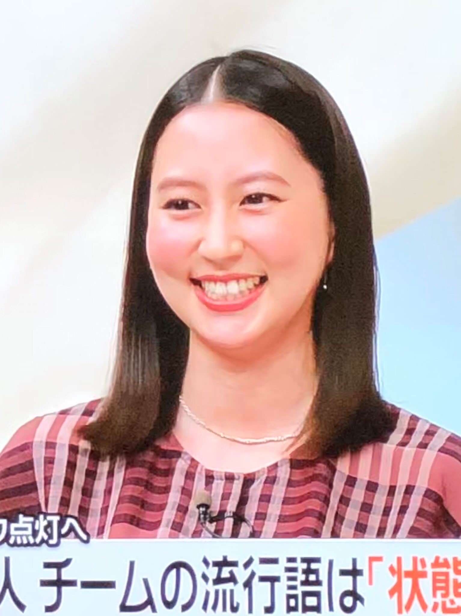河北麻友子の顔ニュースゼロ