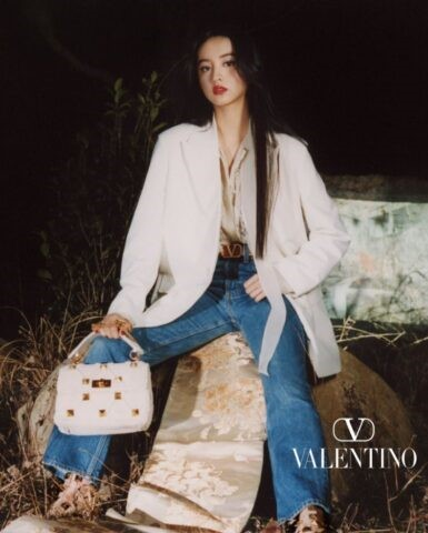 Koki・ヴァレンティノ・着物の帯、踏みつけ画像