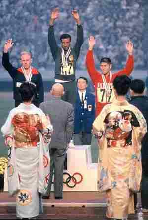 東京オリンピック1964年の表彰式衣装は着物、振袖