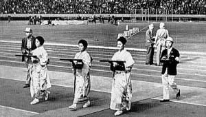 東京五輪1964年の表彰式衣装は着物、振袖