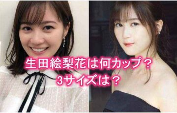 生田絵梨花は何カップ・胸のバストサイズ・3サイズ・水着グラビア画像