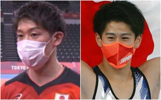 石川祐希と橋本大輝のマスク姿が似てる