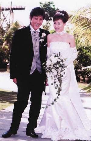新庄剛志の昔の写真:結婚式