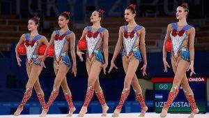 新体操女子団体ウズベキスタン衣装画像