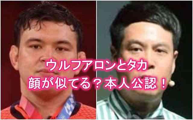 ウルフアロンとタカ(タカトシ)の顔が似てる
