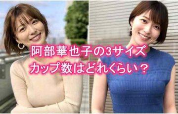 阿部華也子の胸のカップ数・バストサイズ・3サイズ・カップサイズ